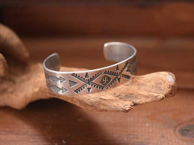 复古风格印度 jueliefredherbie/GRB 银手镯 / 手链纳瓦霍人,美国本土珠宝