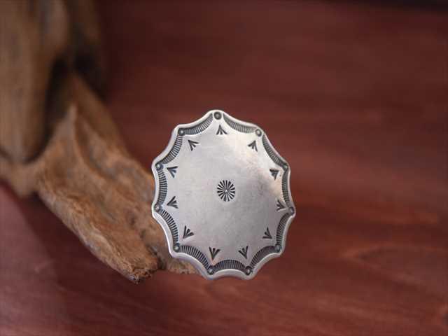 Indian Jewelry ランディー ババ シャッケルフォード (Randy Bubba Shackelford)インゴット シルバー コンチョ ftc-c1