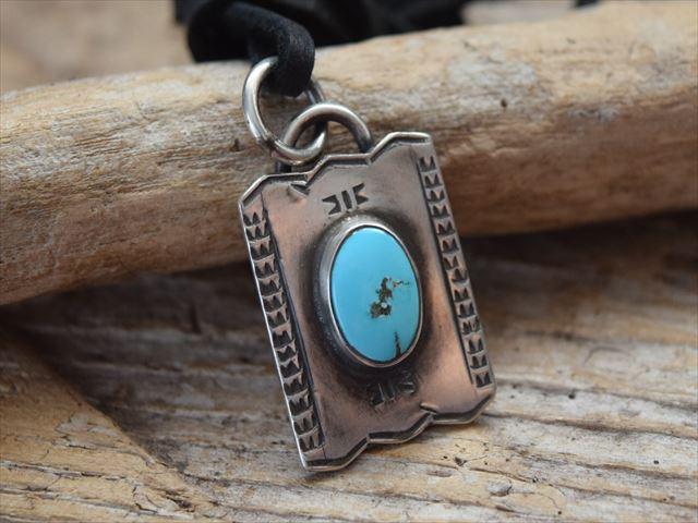 インディアン ジュエリー ターコイズ タグ ペンダント made by The Garrison Jewelry (レイチェル ギャリソン) Rachel Garrison c1