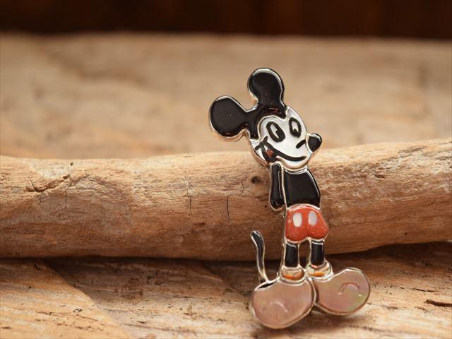 Indian Jewelry ズニ族 アンドレア シェリー(ANDREA SHIRLEY) ミッキーマウス モチーフ キャラクター ペンダント&ピンブローチ 2
