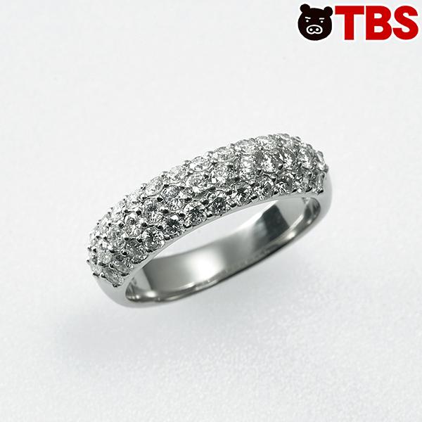 松屋銀座 合計1ctDカラーダイヤパヴェリング【TBSショッピング】