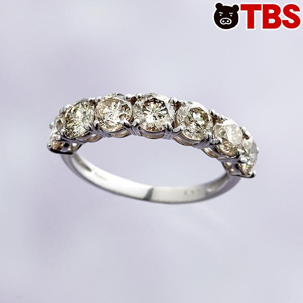 プラチナ合計2ctダイヤリング【TBSショッピング】