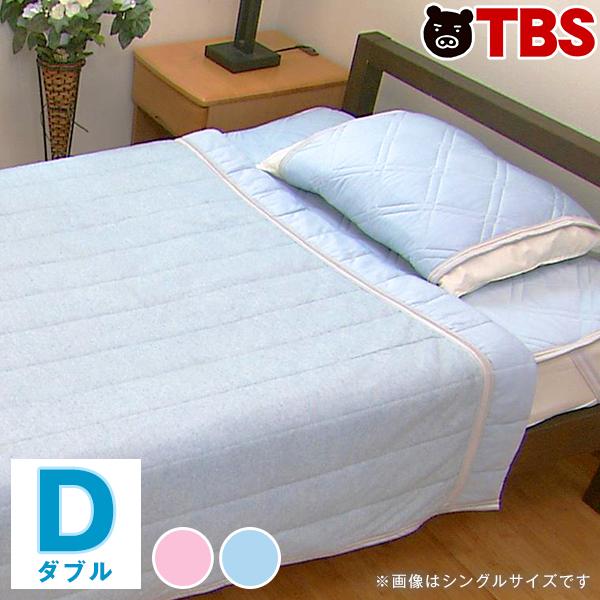 西川 クールマジック ダブルクール 5点セット/ダブル/敷パッド・枕パッド・リバーシブルケット【TBSショッピング】