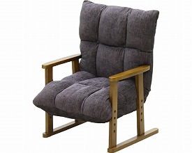 高座椅子NA-062 ブラック(介護用品 便利グッズ 老人 お年寄り 高齢者 介護椅子 いす イス)