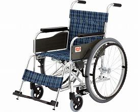 標準型車いす ロックアシスタT-1-LA 背固定タイプ(車椅子 車いす 車イス 送料無料 座幅 自走用 折り畳み 折りたたみ   介護用品  高齢者用 老人用)