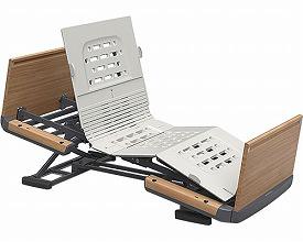 楽匠Z 3モーション 木製ボード 脚側 高 スマートハンドル付KQ-7323S 91cm幅 ミニ(介護ベッド 高齢者用ベッド ベット 電動ベッド 老人向けベッド 介護用品 福祉  リハビリ)