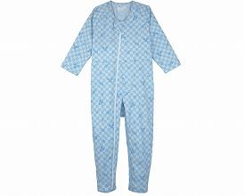 コンビネーションII(フルオープン型) 5638-A 3Lリーフブルー(介護介護用パジャマ 寝巻き お年寄り 高齢者 介護 老人服 入院   )