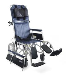 介助用リクライニング車椅子 RR43-NB[バンド式介助ブレーキ付] 車いす 送料無料  リクライニングカワムラサイクル【敬老の日 プレゼント ギフト】