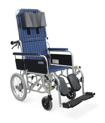 アルミ介助用リクライニング車椅子 RR53-NB[バンド式介助ブレーキ付] 車いす 送料無料  リクライニングカワムラサイクル【敬老の日 プレゼント ギフト】
