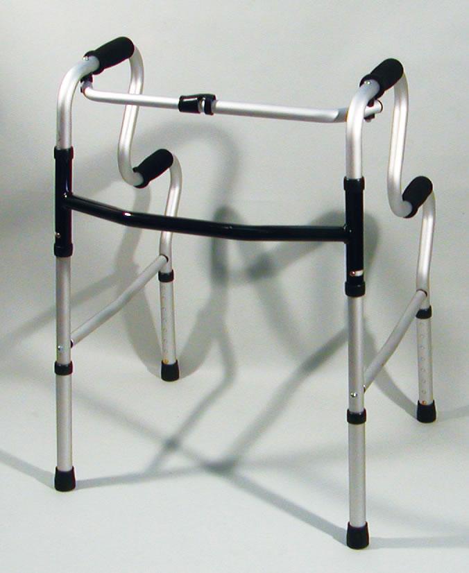モアウォーク 固定式二段 歩行器/介護用品/送料無料 歩行訓練