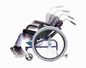 自走用車いす 楽歩 標準タイプ LAS-1(車椅子 車いす 車イス 送料無料 座幅 自走用 折り畳み 折りたたみ   介護用品  高齢者用 老人用)