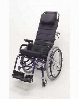 ティルト&リクライニング自走用車いす 楽歩 ハイバックセット付 LAS-01LAH(介助ブレーキなし)(車椅子 車いす 車イス 送料無料 座幅 自走用 折り畳み 折りたたみ   介護用品  高齢者用 老人用)