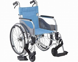 スリムタイプ車いす 自走式 SA-101B(車椅子 車いす 車イス 送料無料 座幅 自走用 折り畳み 折りたたみ   介護用品  高齢者用 老人用)