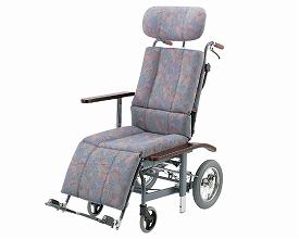 車椅子  スチールフルリクライニング式介助用車いすNHR-11 抗菌・防臭シート採用(車椅子 車いす 車イス 送料無料 座幅 介助用 折り畳み 折りたたみ  介護用品  高齢者用 老人用 脊髄損傷)