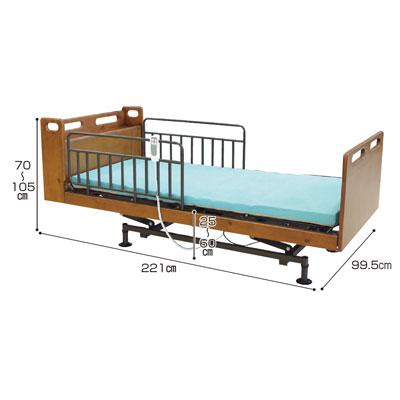 安定型サイドレール(レギュラー) ブラウン 2本1組(介護ベッド 高齢者用ベッド ベット  老人向けベッド 介護用品 福祉  リハビリ)