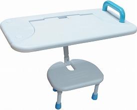 はね上げ式バスボードBBH-001 白(入浴用品 介護用品  風呂用品 福祉用具 高齢者用 老人用  )