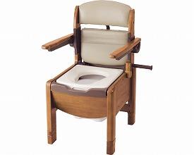 木製トイレ しまるくんKPT-H 肘掛け跳ね上げタイプ