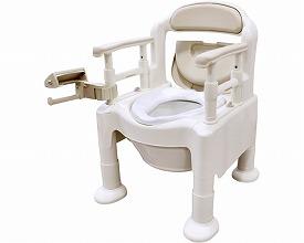 ポータブルトイレ FX-CP 片手で切れるペーパーホルダータイプ533-593(ポータブルトイレ簡易トイレ 介護用 非常用  介護用便座 介護 トイレ 介護用品 トイレ    )