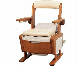 安寿 家具調トイレAR-1SA1 シャワピタ ノーマルL533-810(ポータブルトイレ簡易トイレ 介護用 非常用  介護用便座 介護 トイレ 介護用品 トイレ    )