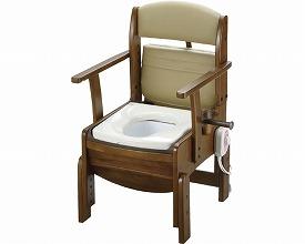 木製トイレ きらくコンパクト18530 暖房便座(ポータブルトイレ簡易トイレ 介護用 非常用  介護用便座 介護 トイレ 介護用品 トイレ    )
