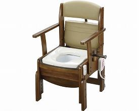 木製トイレ きらくコンパクト18610 暖房脱臭便座(ポータブルトイレ簡易トイレ 介護用 非常用  介護用便座 介護 トイレ 介護用品 トイレ    )