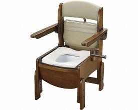 木製トイレ きらくコンパクト 肘掛跳ね上げ18550 普通便座(介護用品 介護 福祉用具   )