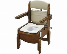 木製トイレ きらくコンパクト 肘掛跳ね上げ18630 普通脱臭便座(ポータブルトイレ簡易トイレ 介護用 非常用  介護用便座 介護 トイレ 介護用品 トイレ    )