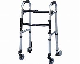 ミニフレームウォーカー・キャスターモデル SWFM-4262SW3GW(介護歩行器 リハビリ 福祉用具 歩行訓練 介護用品 大人用 高齢者用 老人用 )