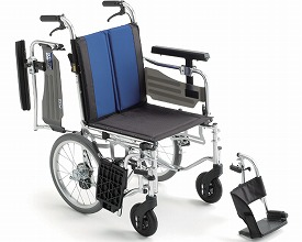 車椅子 BAL-6 モジュール多機能 介助型車いす(車椅子 車いす 車イス 送料無料 座幅 介助用 折り畳み 折りたたみ  軽量  介護用品  高齢者用 老人