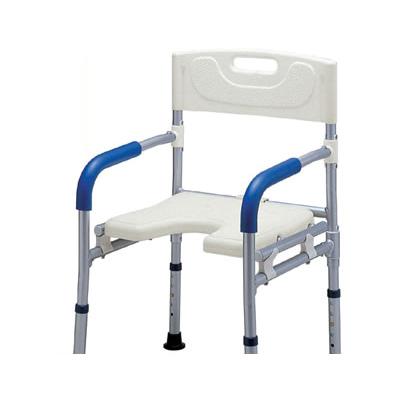 介護用 風呂椅子 シャワーチェア 折りたたみ 《送料無料 》・すま~いる コンパクト シャワーベンチ入浴 お風呂用品 いす 椅子チェア 背もたれ付