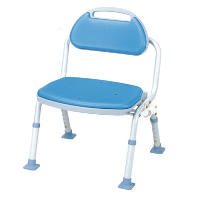 折りたたみシャワーベンチSOFTEK 背付き(シャワーチェア バスチェアー 介護用風呂椅子 シャワーベンチ 介護用品  高齢者用 老人用  )