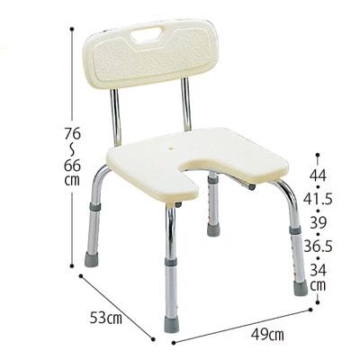 バスベンチ U型 (シャワーチェア バスチェアー 介護用風呂椅子 シャワーベンチ 介護用品 高齢者用 老人用 )( 母の日 プレゼント 2019 )