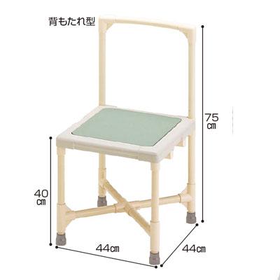 シャワーイス背もたれ型(シャワーチェア バスチェアー 介護用風呂椅子 シャワーベンチ 介護用品  高齢者用 老人用  )