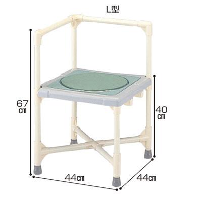 シャワーイスL型 ターンテーブルタイプ(シャワーチェア バスチェアー 介護用風呂椅子 シャワーベンチ 介護用品  高齢者用 老人用  )
