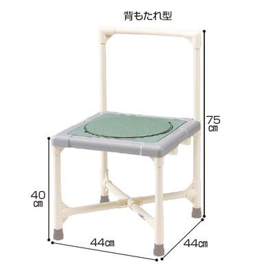 シャワーイス背もたれ型 ターンテーブルタイプ(シャワーチェア バスチェアー 介護用風呂椅子 シャワーベンチ 介護用品  高齢者用 老人用  )