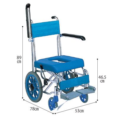 お風呂用車いす「フローラ」介助型 MHC-46(入浴用品 介護用品  風呂用品 福祉用具 高齢者用 老人用  )