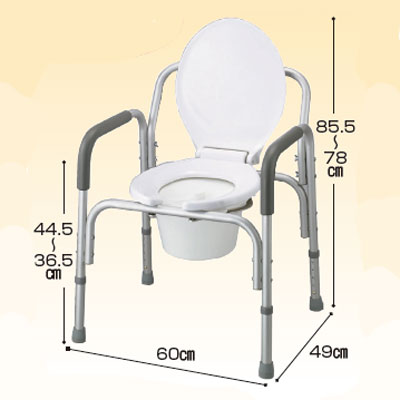 コモードチェアー STD(ポータブルトイレ簡易トイレ 介護用 非常用  介護用便座 介護 トイレ 介護用品 トイレ    )