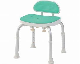 コンパクトバスチェア ミニ背付きBC-01L-GR グリーン(シャワーチェア バスチェアー 介護用風呂椅子 シャワーベンチ 介護用品  高齢者用 老人用  )
