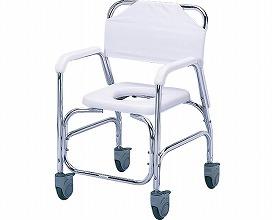 アルミシャワーチェアTY535DXE 樹脂製四輪ダブルストッパー(シャワーチェア バスチェアー 介護用風呂椅子 シャワーベンチ 介護用品  高齢者用 老人用  )