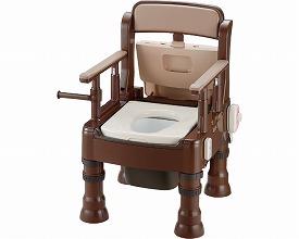 ポータブルトイレ きらく ミニでか 暖房便座脱臭器付 MH-D型45653 ダークブラウン(ポータブルトイレ簡易トイレ 介護用 非常用  介護用便座 介護 トイレ 介護用品 トイレ    )