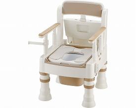ポータブルトイレ きらく ミニでか エクスジェル・脱臭便座 ME-D型18821 アイボリー(ポータブルトイレ簡易トイレ 介護用 非常用  介護用便座 介護 トイレ 介護用品 トイレ    )