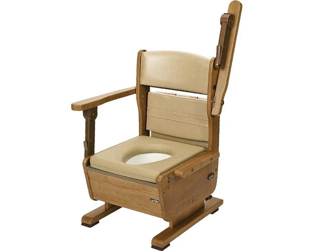 さわやかチェアPTW(ワイド)8231 肘掛けはね上げタイプ(ポータブルトイレ簡易トイレ 介護用 非常用  介護用便座 介護 トイレ 介護用品 トイレ    )