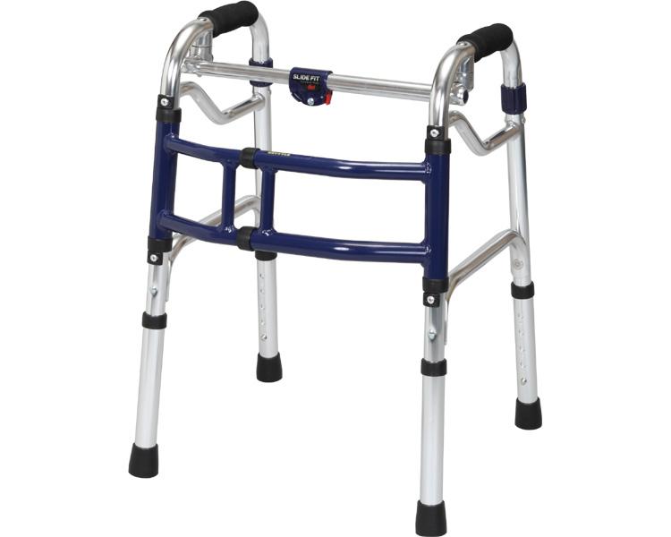 歩行器 介護・送料無料 スライドフィット ミニタイプ / H-0188大人用 リハビリ 高齢者用 介護用品 福祉用具 歩行訓練