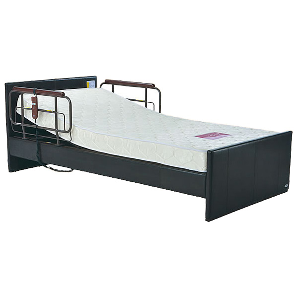 介護ベッド 電動リクライニングベッド tc-b01018 1モーターベッド フラットボードタイプ / P200-11AA1PS ポケットコイルマットレス