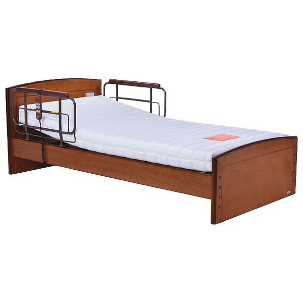 介護ベッド 電動リクライニングベッド (tc-b01025) ライジングモーション付 フラットボードタイプ / P200-12BA1ES エルダーサポートマットレス