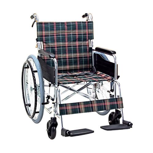 大きな車椅子 折り畳み アルミ自走用車いす(座幅46cm車イス)(車椅子 車いす 車イス 送料無料 座幅 自走用 折り畳み 折りたたみ   介護用品  高齢者用 老人用)