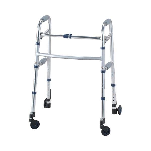 歩行器 介護 アルミ製固定式前輪スイングキャスタータイプ [介護用品][歩行器 固定型][リハビリ]歩行訓練  (介護用品 介護 福祉用具 シルバーカート シルバーカー )( 母の日 プレゼント 2019 )