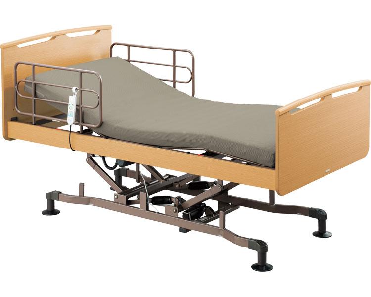 介護ベッド 電動リクライニング 福祥 昇降2モーター マットレス付HBS-212-MS2 ダークブラウン (介護用品 福祉用具 高齢者 老人 お年寄り 便利グッズ ベッド 寝具)