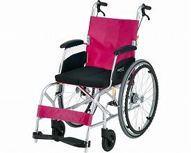 KALU8α(カルハチアルファ) Cパッケージ NA-L8α 座幅40cm ライトレッド (車椅子 軽量 折り畳み 車イス 車いす 自走用 介護 折りたたみ式 お洒落 )