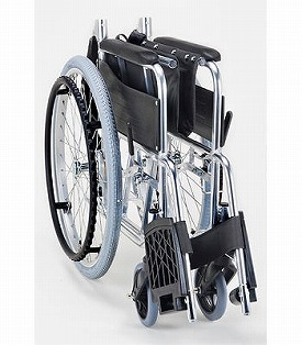 Standard module wheelchair SMK50-4243NC seat 42cm in width navy check (care folding-style fashion for the wheelchair lightweight folding wheelchair wheelchair self-run) for the self-run
